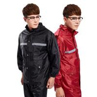 防雨套装 电动车雨裤防雨摩托车衣服单人防水 工作服分体反光男女雨衣套装