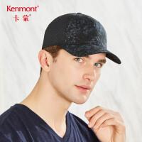 卡蒙棉质帽子男防晒太阳帽透气遮阳帽夏天青年户外黑色网眼棒球帽3513