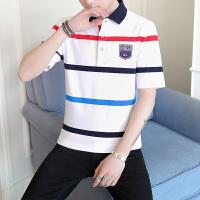 夏季棉男士短袖t恤衬衫v领体恤打底衫韩版翻领polo衫衣服潮男装BK8961