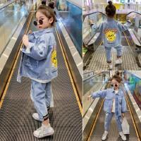 女童套装2020新款春装中大儿童时髦小女孩牛仔两件套