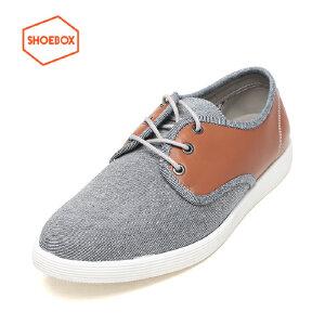 SHOEBOX/鞋柜新款系带运动商务休闲鞋深口潮款男鞋