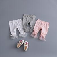 童装女宝宝打底裤0-1-2-3-4岁婴儿裤子七分裤女童可开裆