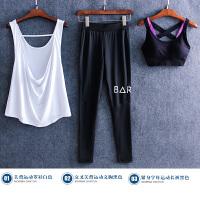 健身房运动套装女夏季新款潮韩国初学者宽松晨跑步速干背心瑜伽服