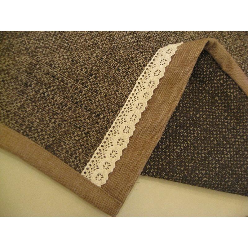布艺坐垫防滑时尚咖啡色纯麻加厚 欧式套巾罩沙发垫 可定做