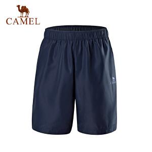 camel骆驼运动裤 宽松时尚透气排汗运动跑步健身裤休闲短裤男女