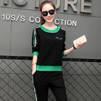 2017秋季新款运动套装女韩版休闲运动服女装大码卫衣显瘦两件套潮 XXX