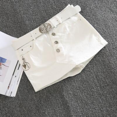 牛仔半身裙裤假两件2018时尚性感迷你小短裙包臀显瘦修身弹力短裤 发货周期:一般在付款后2-90天左右发货,具体发货时间请以与客服协商的时间为准
