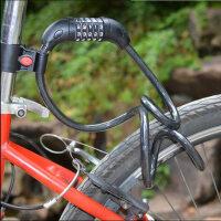 山地车自行车zxc锁密码锁防盗锁骑行装备工具5位密码锁
