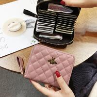 新款真皮女式拉链卡包大容量多卡位钱包风琴卡片包驾驶证卡包一体