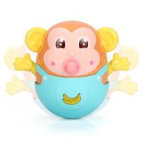 3-6-12月大号婴儿洗澡玩具不倒翁牙胶摇铃 0-1岁宝宝