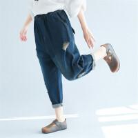 背带短裤18夏季版牛仔背带裤女百搭裤子显瘦吊带裤学生连体裤