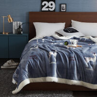 �p�用�毯羊羔�q加厚珊瑚�q毯子法�m�q�w毯被子冬季保暖床�稳�