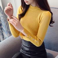 唯品会品牌女装秋冬新款半高领针织衫女套头长袖毛衣打底衫潮