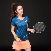 羽毛球服网球服套装 短袖男女运动短裤 透气速干情侣球衣