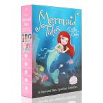 英文原版进口平装小说A Mermaid Tales Sparkling Collection美人鱼故事五册 儿童小说