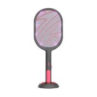 黑桃A光触媒灭蚊灯 USB充电锂电池二合一驱蚊器电蚊拍 闪电系列 黑色