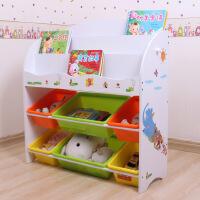 御目 书架 家用多层塑料收纳架男女宝宝卡通玩具整理收纳柜室男孩女孩储物架子满额减限时抢礼品卡儿童家具