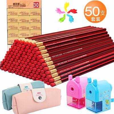 小学生hb铅笔 儿童六角杆无毒铅笔幼儿铅笔套装批发学生文具用品