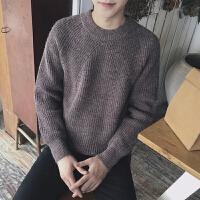 2018冬季纯色插肩袖套头毛衣日系宽松港风男士针织衫潮男