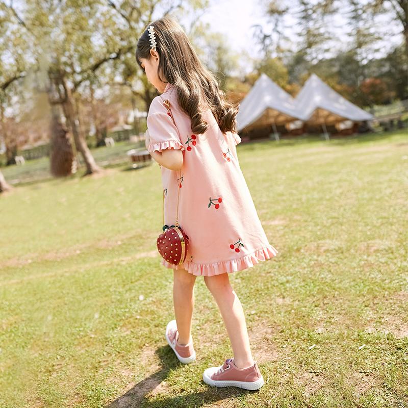 女童连衣裙夏装儿童装大童Polo裙夏款女孩公主裙裙子
