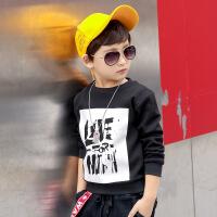 男童加绒长袖T恤童装韩版打底衫冬装新款儿童卫衣中大童保暖