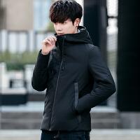 男士大码羽绒服新款冬季青少年连帽羽绒服男韩版修身短款男装外套