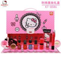 20180712062947765Hello Kitty儿童化妆品手拎包彩妆礼品凯蒂猫女孩时尚美妆收纳包 KT-858