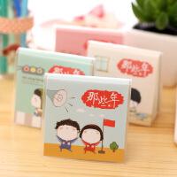 韩国文具方形胶套小本子可爱卡通创意笔记本 简约便携记事本学生