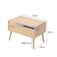 桌边整理柜北欧收纳柜实木抽屉式白色卧室飘窗收纳箱自由组合桌面收纳盒家用 1个