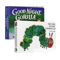 The very hungry caterpillar 好饥饿的毛毛虫 英文原版绘本 晚安大猩猩纸板书 进口幼儿英语启蒙