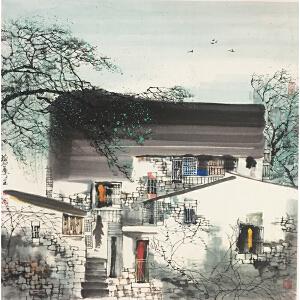 刘懋善《世外桃源》著名画家