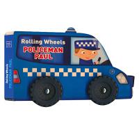 Rolling Wheels Policeman Paul 轮胎滚滚警察保罗 英文原版进口图书 儿童启蒙教育绘本 警察