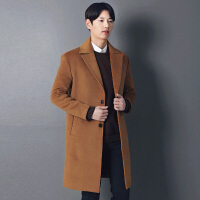 秋冬韩版毛呢外套男呢大衣休闲青年宽松羊绒呢子大衣风衣