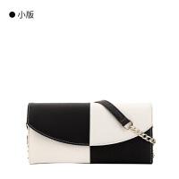 新款钱包单肩斜跨女包链条小手拿包手抓包h 黑白小版
