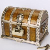 欧式宝箱首饰盒带锁仿古公主风抖音饰品盒宫廷复古收纳盒结婚礼物