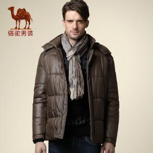骆驼男装 冬装 男士可脱卸帽棉衣休闲保暖棉服外套
