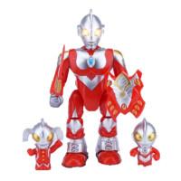 奥特曼玩具儿童电动机器人声光会走路的咸蛋超人泰罗赛文 升级版