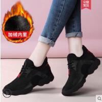 黑色运动鞋女跑步鞋户外新品韩版百搭老爹女鞋子小黑鞋休闲鞋