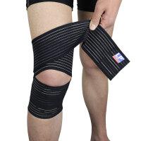 LP欧比绷带护膝膝部弹性绷带631 户外运动膝关节加压稳固支撑护具单只