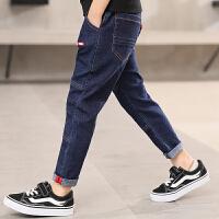 儿童绒厚款牛仔裤秋冬季2018新款韩版男孩裤子