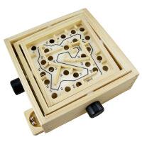 木制智力迷宫玩具 子游戏桌游 木质滚珠平衡木益智玩具
