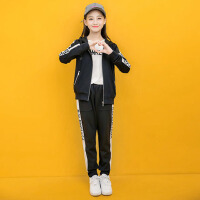 大童12-15岁儿童女孩运动套装女童三件套春秋装2018新款洋气秋季