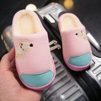 居家儿童棉拖鞋秋冬季可爱防滑男童女童公主家1-3岁室内小孩宝宝
