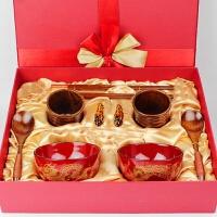 diy定制送朋友闺蜜实用创意碗筷新婚婚庆订婚贺结婚礼物摆件礼品