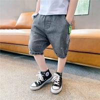 【2件5折到手价:69元】左西男童裤子夏儿童牛仔短裤中大童夏季五分裤中裤薄款2021新款潮