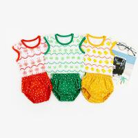 本印苏拉 婴儿衣服夏季新款儿童套装无袖背心两件套 家居学习裤a类婴儿套装