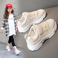 女童�\�有�2020春秋季新款男童鞋�p便跑步�底�和�中大童休�e鞋子