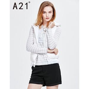 以纯线上品牌a21女装背心外套休闲舒适保暖羽绒服女