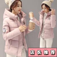 少女棉衣韩版中长款2017新款青少年冬季 初中学生冬装外套女