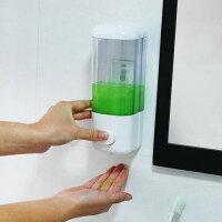 皂液器壁挂式免打孔按压洗手液盒宾馆洗发水沐浴露盒子 白色